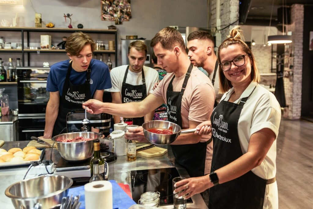 Тимбилдинг в стиле кулинарного мастер-класса