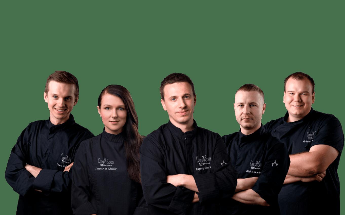 Команда кулинарной школы Евгения Чернухи